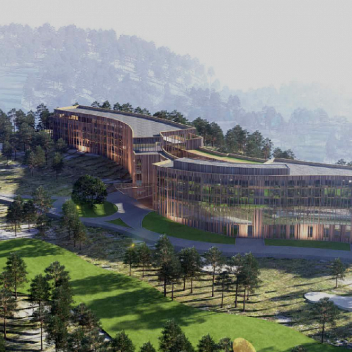 In the capital of Georgia, Tbilisi, the beautiful recreation complex Tabori hotel and golf club is under construction